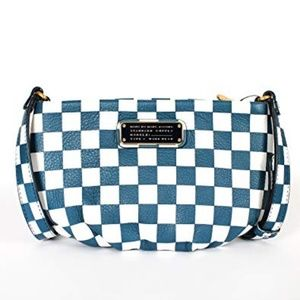 NWT! Marc Jacobs New Q Checkerboard Crossbody